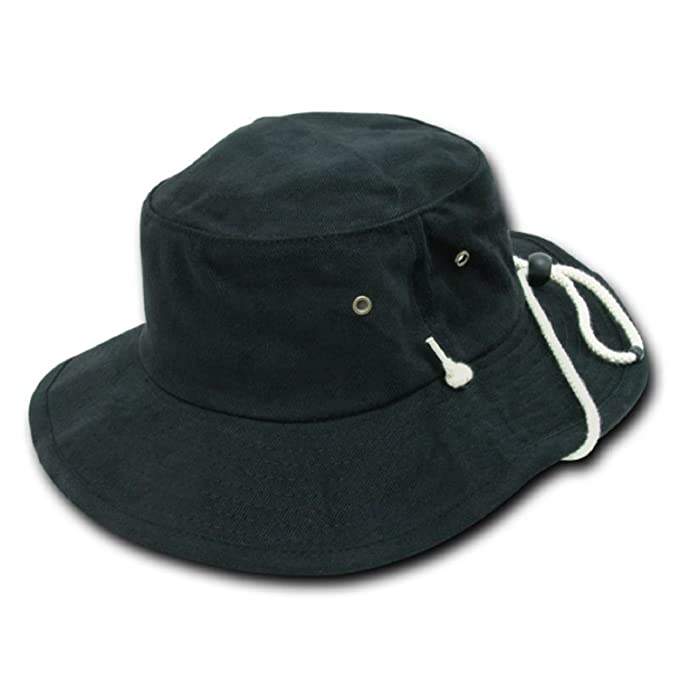 6b766139585 Image Unavailable. Image not available for. Color  Decky Aussie Style  Outback Drawstring Bucket Hat ...