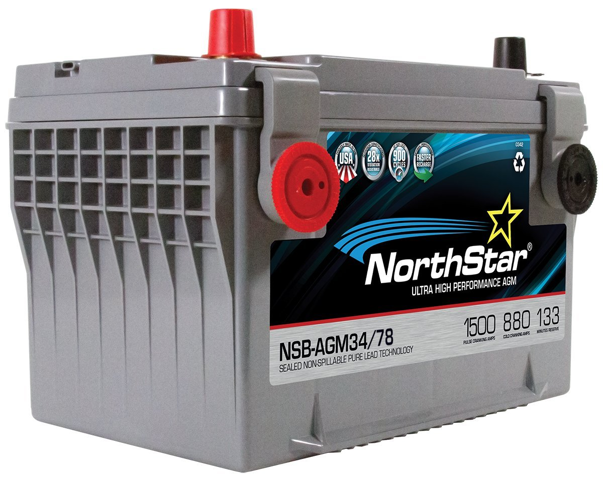 NORTHSTAR Pure Lead Automotive Group 34//78 Battery NSB-AGM34//78