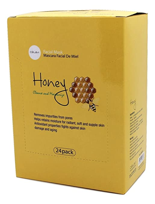 Amazon.com : Celavi Essence Facial Mask Paper Sheet Korea Skin Care Moisturizing 24 Pack (Honey) : Beauty