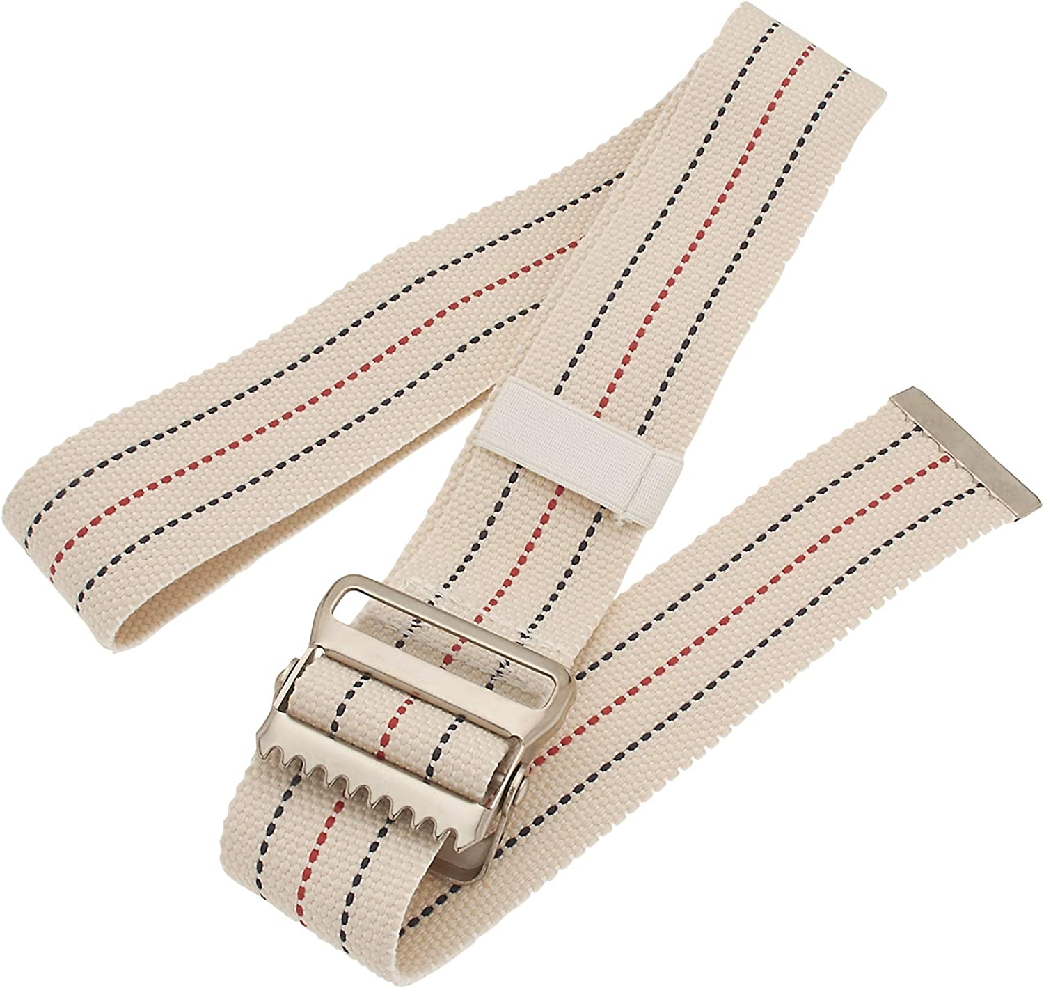 ASA Techmed Walking Gait Belt with Metal Buckle and Belt Loop Holder, Patient Transfer Belt - Mobility Aid for Caregivers, Nurses, Home Health Aides, Physical Therapists - Beige - 54