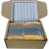Yobett 166 Values 1/4w Resistors pack 1660pcs 0-22M DIP metal film full