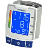 MeasuPro EasyRead Automatic Digital Wrist Blood Pressure Monitor with Heart Rate Detection, Two User Modes, Memory Recall and Large Backlit LCD Display by MeasuPro