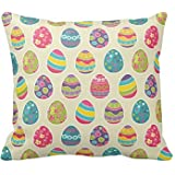 Colorful Pastel Easter Eggs Cute Pattern Pillow Case by BAr4CVs