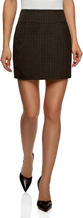 oodji Ultra Mujer Falda Corta con Bolsillos: Amazon.es: Ropa y ...