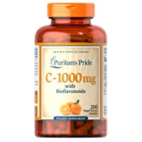 Vitamin C 1000 mg with Bioflavonoids for Immune Support by Puritan's Pride for Skin...
