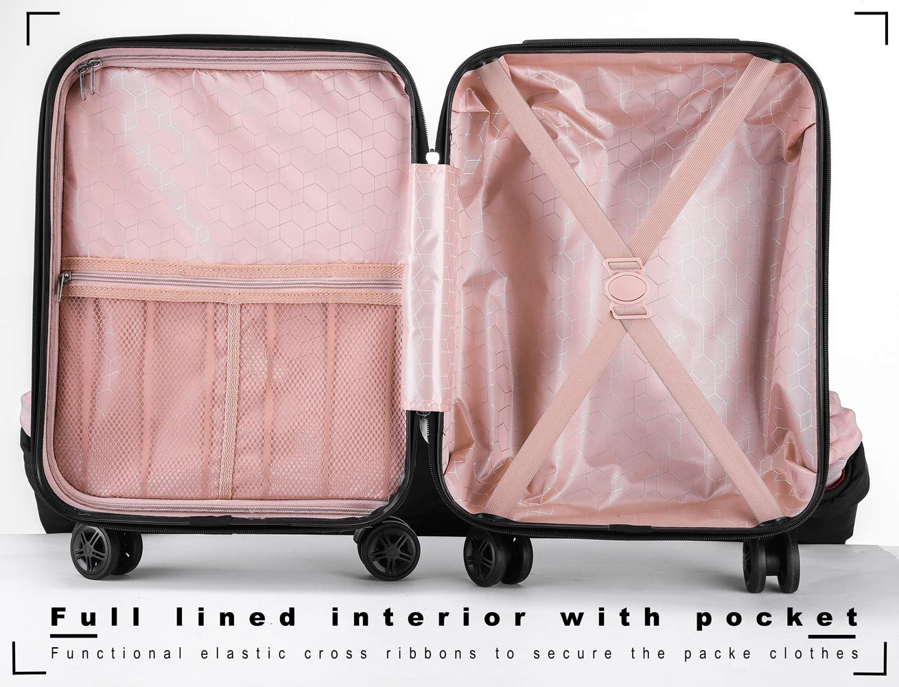 Boys Luggage Anti-scratch Suitcase 19in Hardshell Spinner Carry on PC+ABS Elephant LeLeTian by LeLeTian (Image #7)