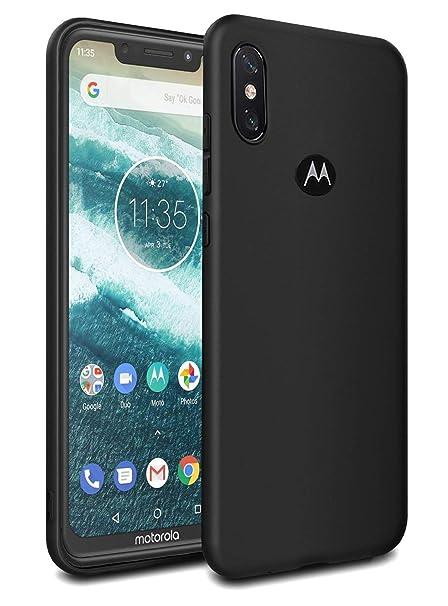 lowest price 7c91c 9e20e Febelo Moto One Power Case, Premium Quality Matte Finish Exclusive Ultra  Slim Back Cover for Motorola One Power - Matte Black