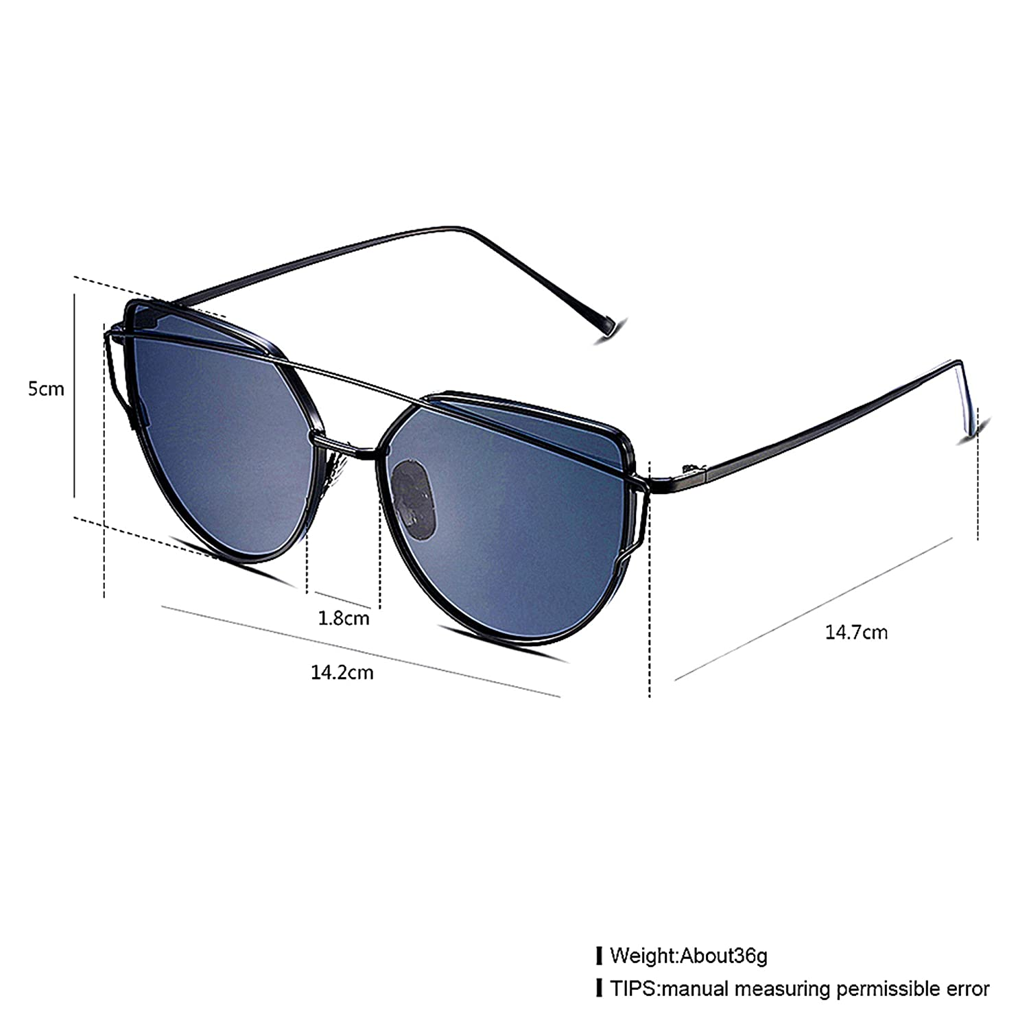 DVsong Fashionable Opal Alloy Frame Polarized Sunglasses for Women DST00039