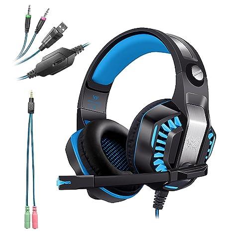 KOTION EACH G2000 USB+3.5mm Cuffie Gaming per PS4 con Microfono Cuffia da  Gioco 40bfc4ec3afe