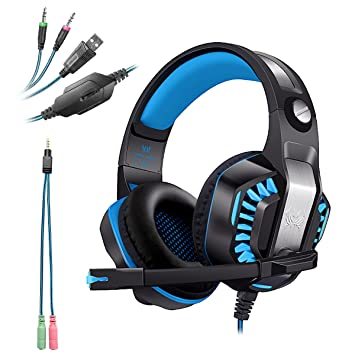 KOTION EACH G2000 Auriculares Gaming LED 3.5mm+USB Estéreo Cascos Ruido Reducción de Diademas