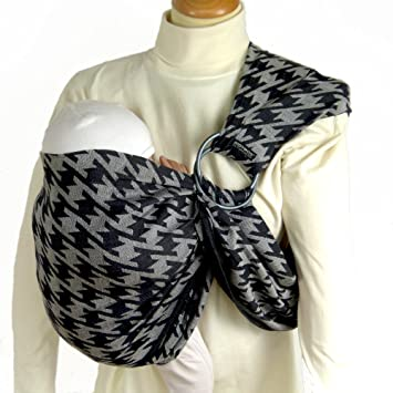 8f3287d7dc3d Didymos Echarpe de Portage Didysling Houndstooth Anthracite  Amazon ...