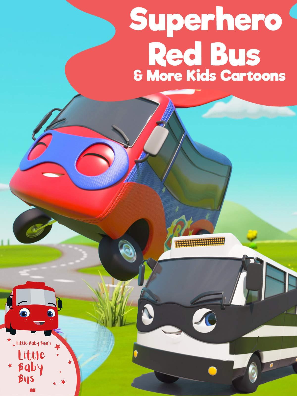Little Baby Bus - Superhero Red Bus & More Kids Cartoons
