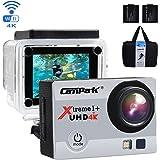 Campark® 4K Wi-Fi Ultra HD Videocamera Sportiva Impermeabile per Riprese in Timelapse, Slow Motion, per Casco e con Funzioni DVR – Angolo di Visione Ampio a 170°