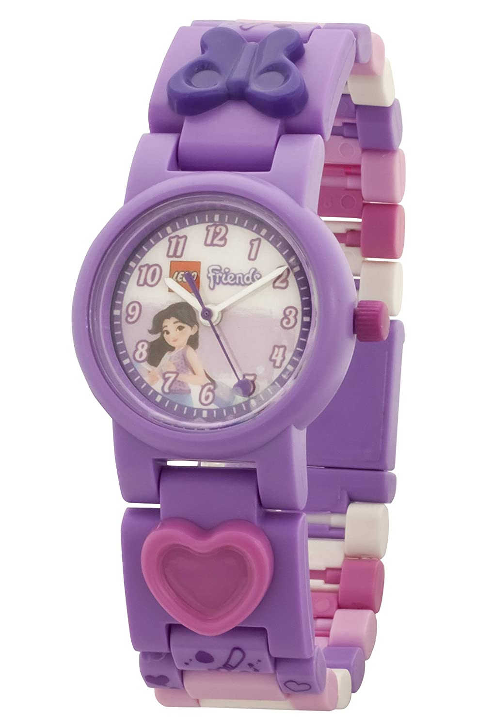 Amazon.com: LEGO Watches and Clocks Girls LEGO Friends Emma Quartz Plastic Watch, Color:Purple (Model: 8021223): Watches