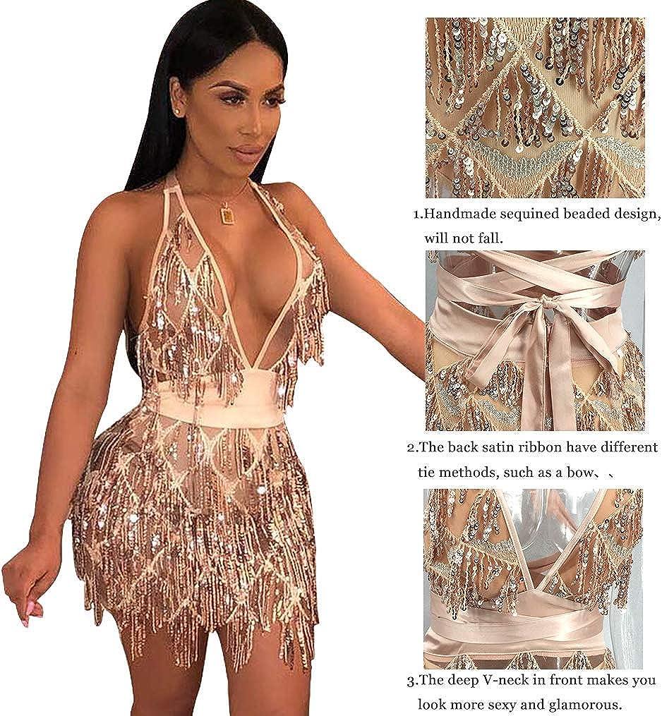 LISTHA Bandage Slim Dress Fashion Club Women Dress Shiny Temperament Dress Party