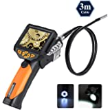 Digital Endoscope, Depstech Waterproof LCD Borescope Videoscope with CMOS Sensor Inspection Camera, 3.5inch Color LCD Screen,4 Zoom Options --10FT