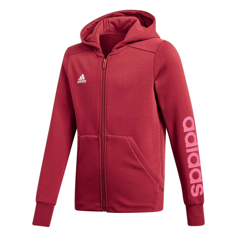 adidas Linear Girl's Full Zip Hoodie Hooded Jacket, Girls
