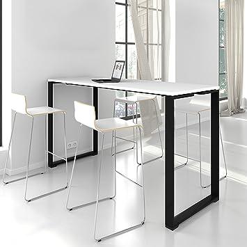 stehtisch jazz 180 x 70 cm groß im edlen schwarz-weiß bartisch ... - Küche Stehtisch