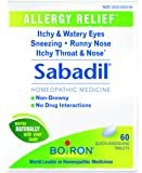 Boiron Sabadil allergy relief tablets, 60 Count