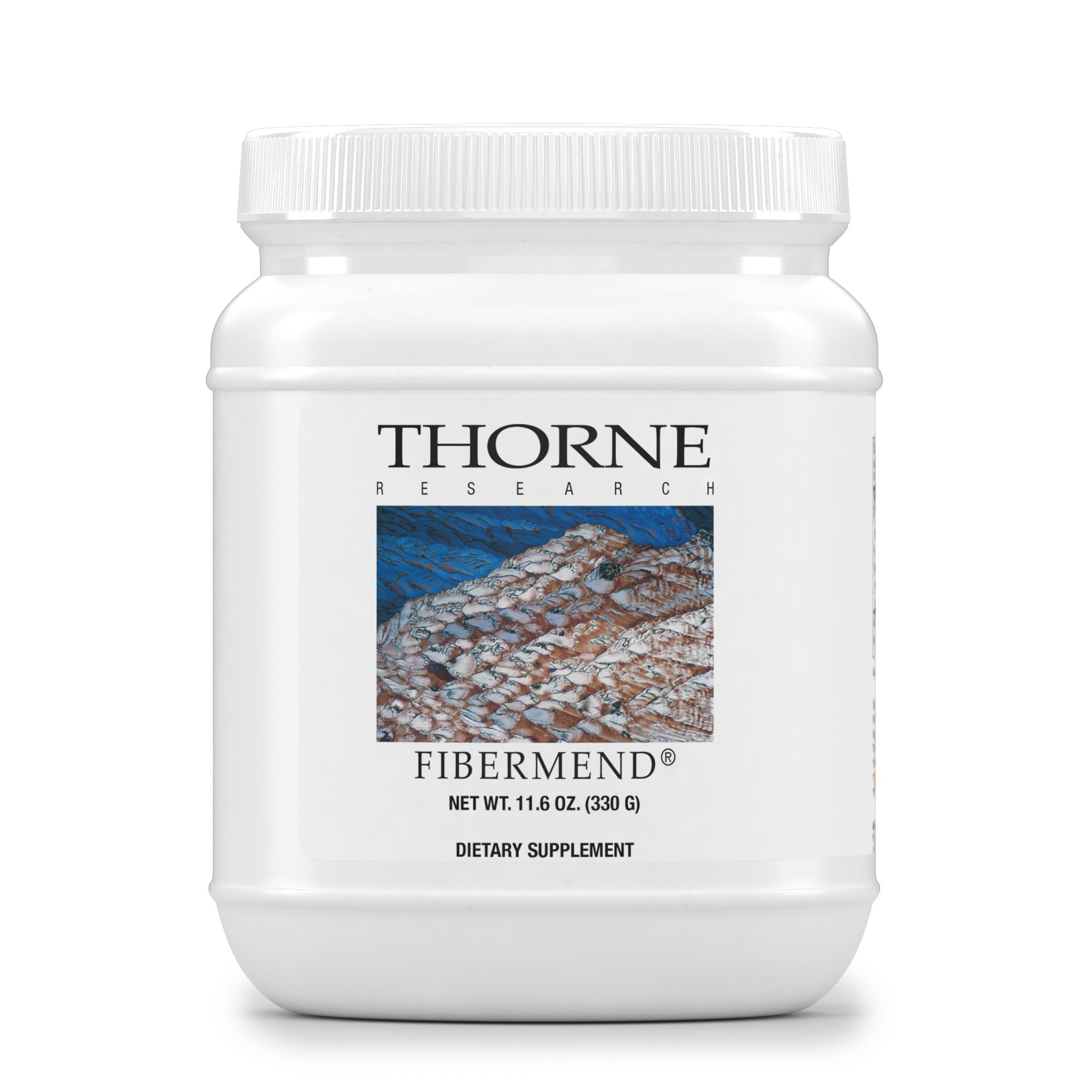 Thorne Research - FiberMend - Prebiotic Fiber Powder to Help Maintain Regularity and Balanced GI Flora - 11.6 oz.