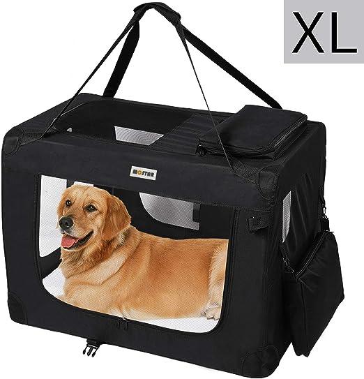 MC Star Transportin para Perros Gatos Mascotas Plegable Portátil Impermeable Tela Oxford Portador Bolsa de Transporte para Coche Viaje, XL 82 x 58cm Negro: Amazon.es: Productos para mascotas