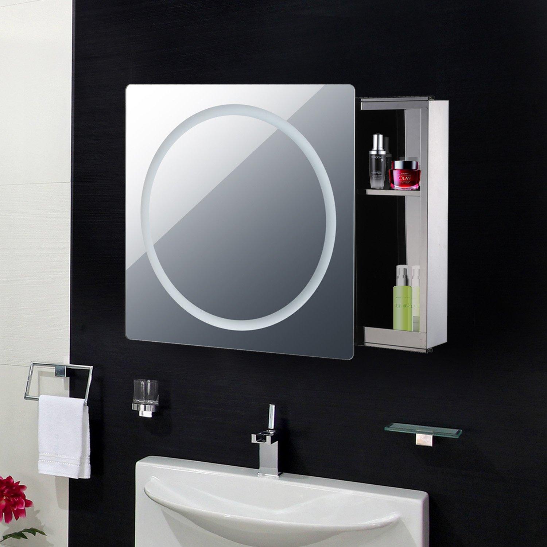 Miroir lumineux LED armoire murale design de salle de bain 2 en 1 ...