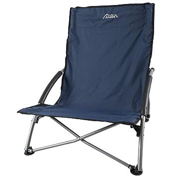andes chaise basse de campingplagepche pliable bleu - Chaise Basse