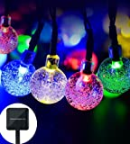 Solar String Light globe,20ft 30 LED Solar Powered String Fairy Bubble Shaped Lights For Outdoor Party Wedding Garden Christmas party Decor( Multicolor)