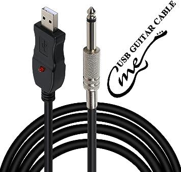 Cable adaptador USB a jack de 6,5 mm para conectar la guitarra o ...