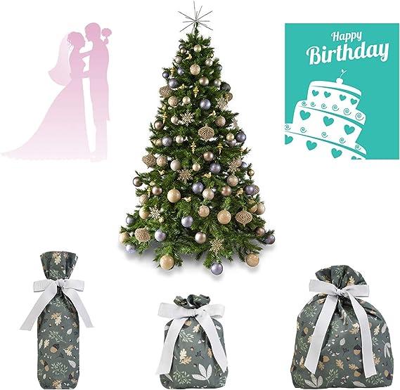 TOBEECO Geschenkbeutel Geschenkt/üten Wiederverwendbar Geschenkverpackung aus Baumwolle Stoffbeutel f/ür Hochzeit Geburtstag Nachhaltig 2er 30x32cm Blau