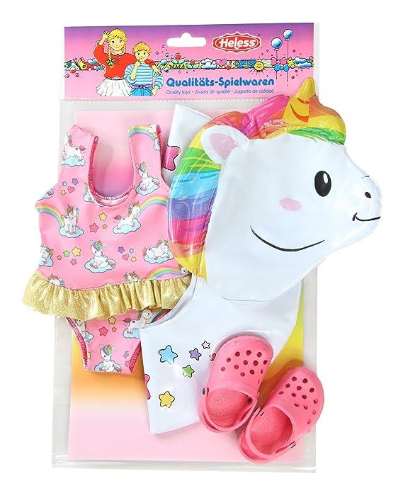 Amazon.es: Heless 66 - Juego de natación para muñecas, Unicornio Henri, tamaño 35 - 45 cm: Juguetes y juegos
