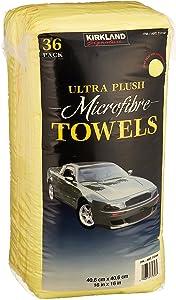 Kirkland Signature MwxZpX Ultra High Pile Premium Microfiber Towels, 36 Pack, 5 Units