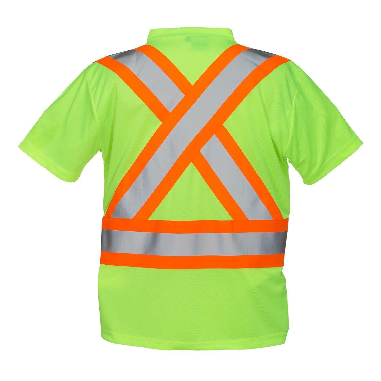 Hi Vis V-Neck Short Sleeve Safety Tee Shirt