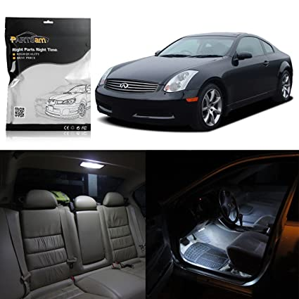 Amazon Partsam Infiniti G35 Sedan 2003 2006 White Interior Led