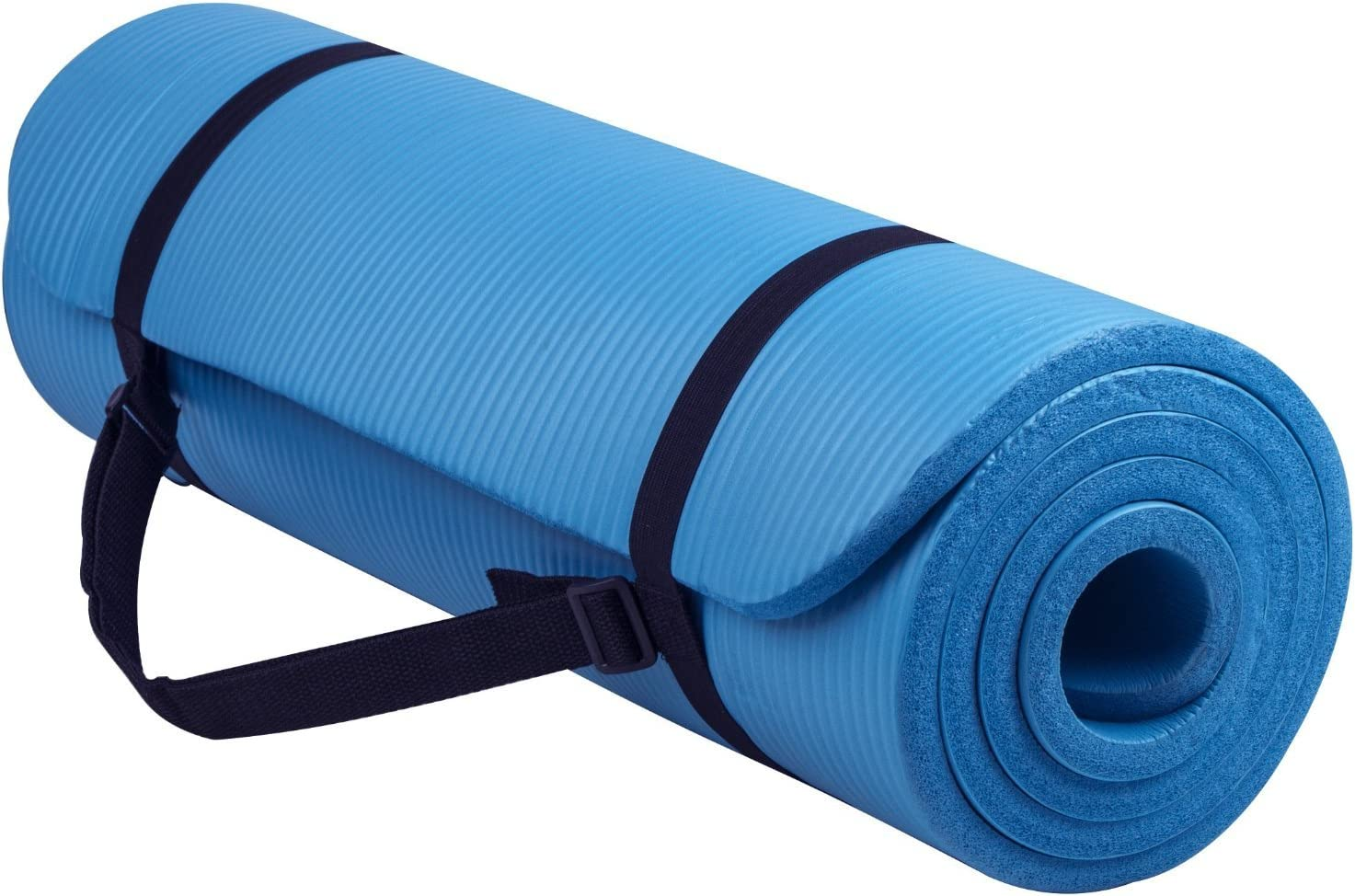 cool essential yoga mat 1//2 inch Thick high Density NBR Exercise Yoga map for Pilates Fitness /& Workout w//Carrying Strap