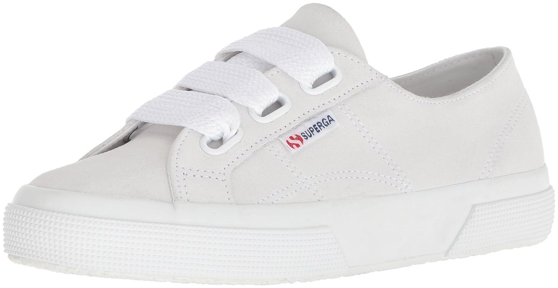 Superga Women's 2750 Suew Biglace Sneaker B077XJBKHS 37 M EU (6.5 US)|White Suede