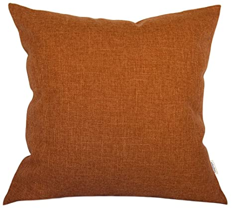 Amazon.com: TangDepot - Funda de cojín de lino con forro ...