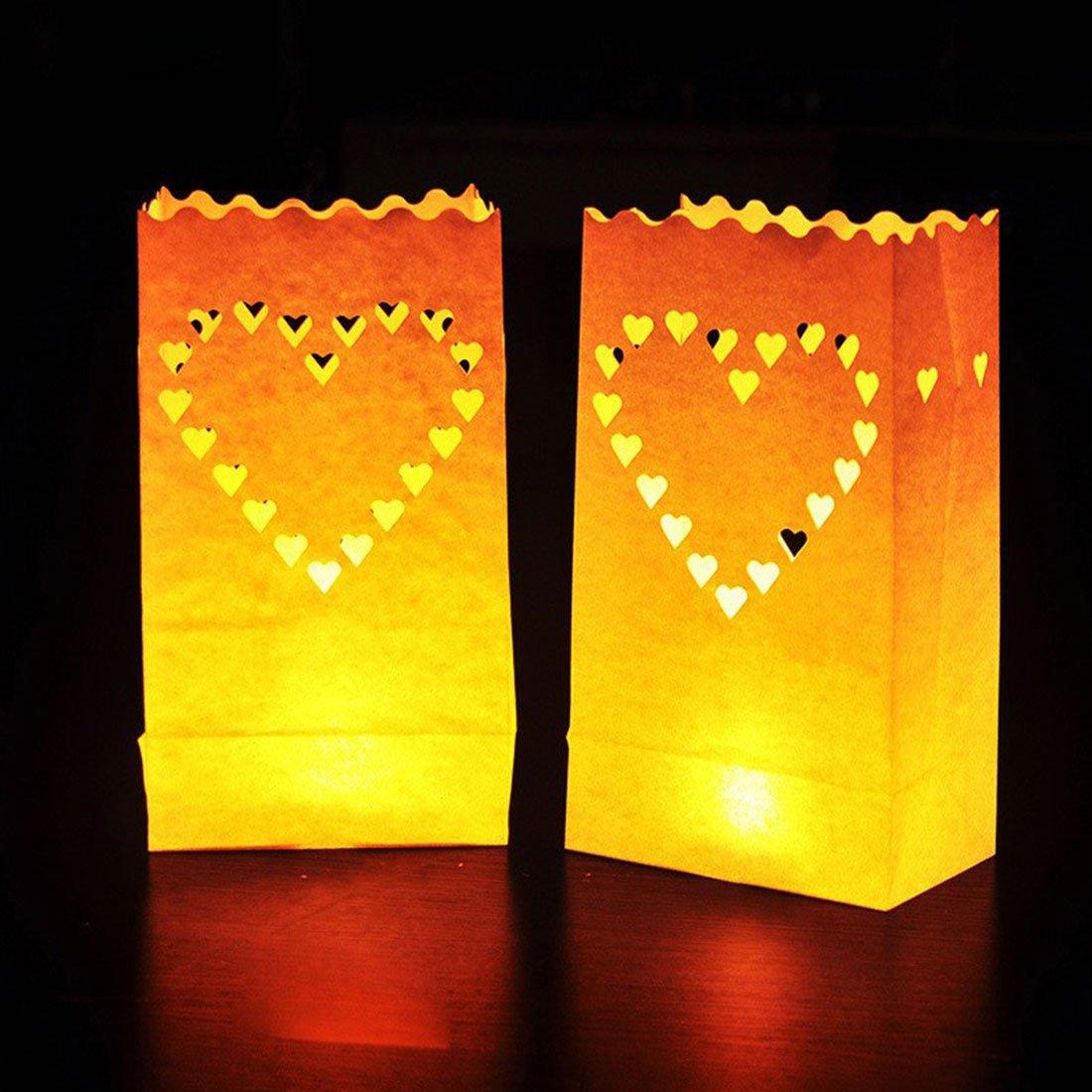 joyliveCY Farol de papel vela bolsa: Amazon.es: Hogar