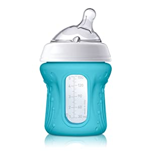 Silicone Sleeve for 5oz Chicco NaturalFit Glass Baby Bottles, Teal