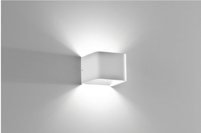 Applique lampada da parete a led moderno luce design cubo bianco