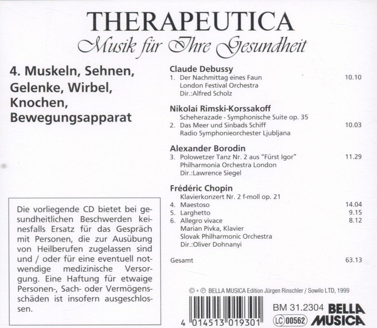 Therapeutica - Musik für Ihre Gesundheit - Vol. 4 (Muskeln, Sehnen ...