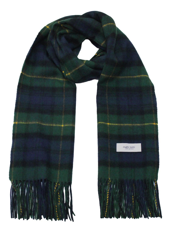 Green X Navy 100% Cashmere Plaid Shawl Stole Men's 2017 Gift Scarves Wrap Blanket B0824B2-8