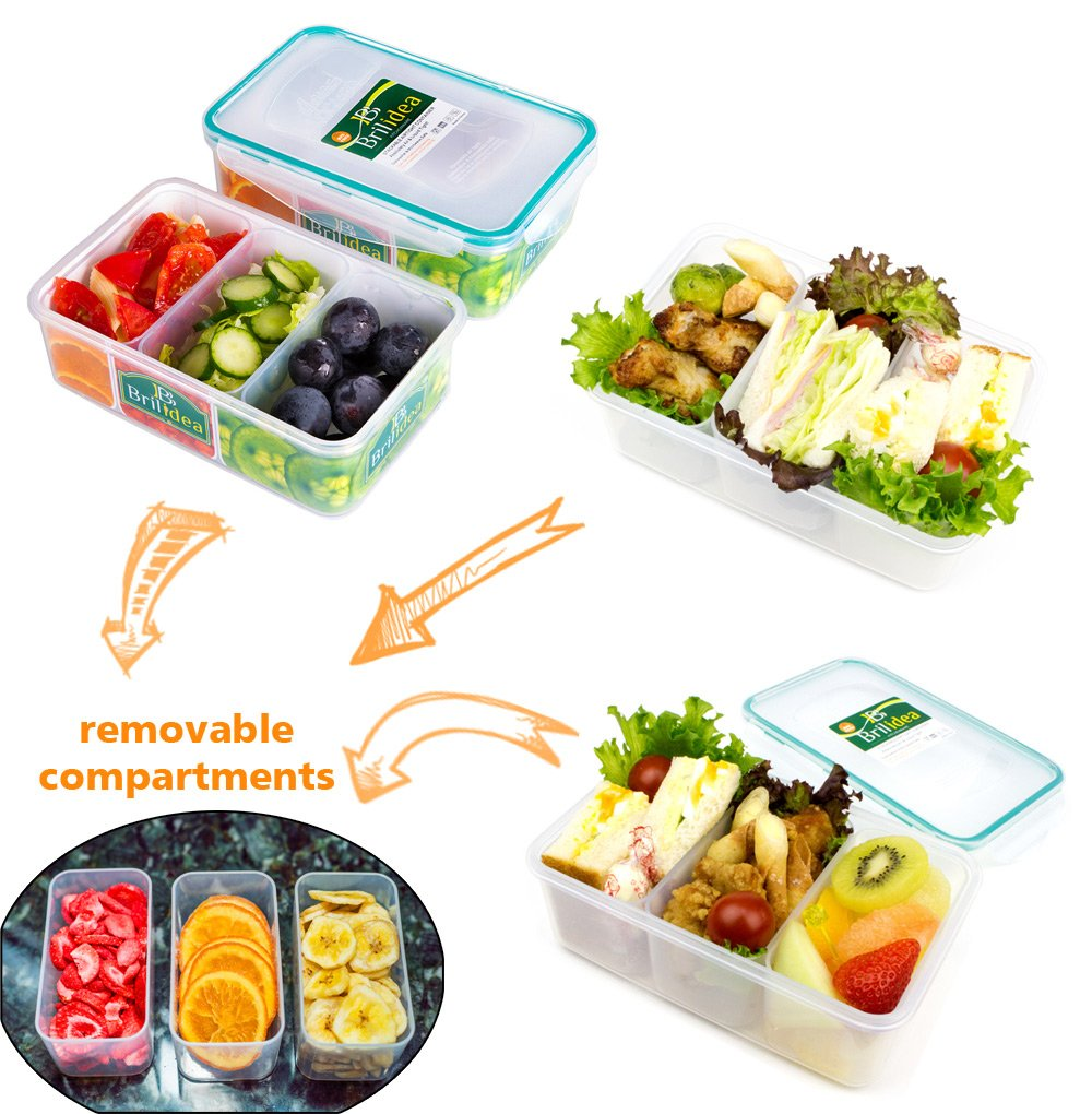 Amazon.com: Leakproof Bento Lunch Box - Food Storage Container with ...