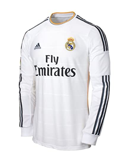 65c37ae2dd5 Amazon.com   Real Madrid Home L S Jersey 2013   2014-M   Soccer Jerseys    Sports   Outdoors
