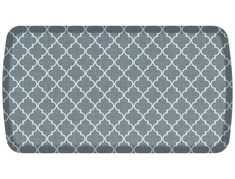GelPro Elite Premier Anti-Fatigue Kitchen Comfort Floor Mat, 20x36'', Lattice Mineral Grey Stain Resistant Surface with therapeutic gel and energy-return foam for health & wellness by GelPro (Image #1)
