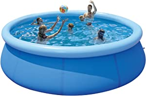 QNTICH Swimming Pool for Family Kids and Adults - 12ft 35in Outdoor Pools Above Ground Easy Set Swimming Pool Kids Pools Inflatable Pool for Kiddie/Toddler Use in Garden, Backyard Outdoor Pool
