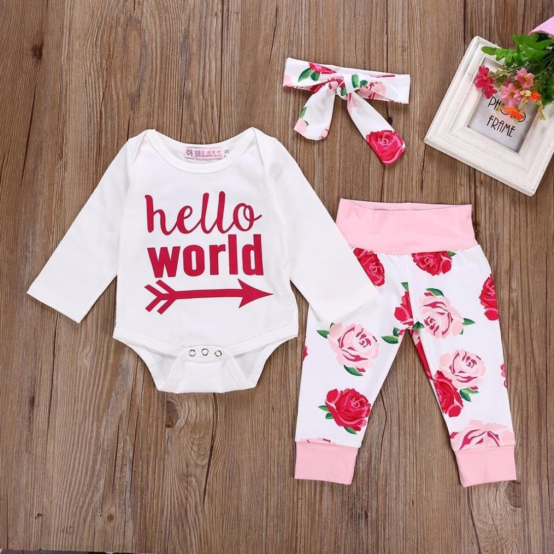 4e47874d5a4 FeiliandaJJ Baby Girl Romper Suits