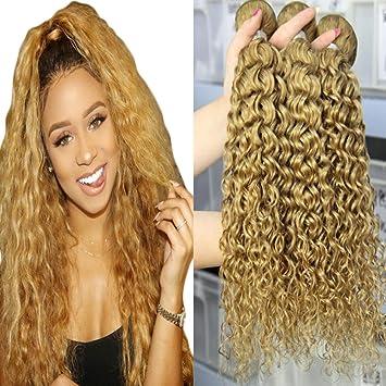 Amazon Com Blonde Curly Human Hair Bundles Orange Star Brazilian