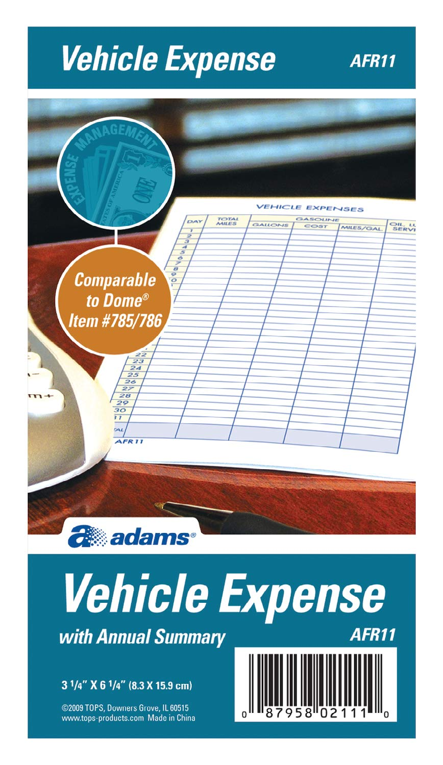 Amazon Adams Vehicle Expense Journal 325 X 625 Inches White AFR11 Forms Office Products