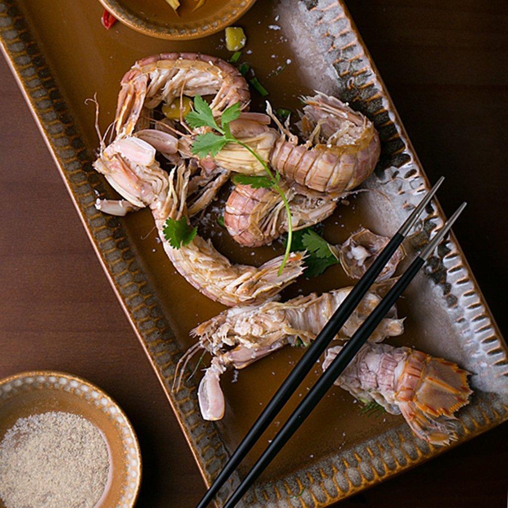 He Xiang Ya Shop Ceramic plate tray brown fish plate soup plate home fruit plate dishware by He Xiang Ya Shop (Image #3)